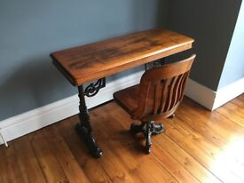 Antique Captains Chair and Console Table