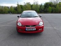 Chrysler Neon 2.0 R / T 16v 4 Door,2001,Red,Car,Alloys,Air Con,Clean,Manual,Petrol,Clean & Tidy