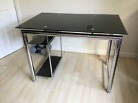 Desk Glass and. Chrome. Excellent condition