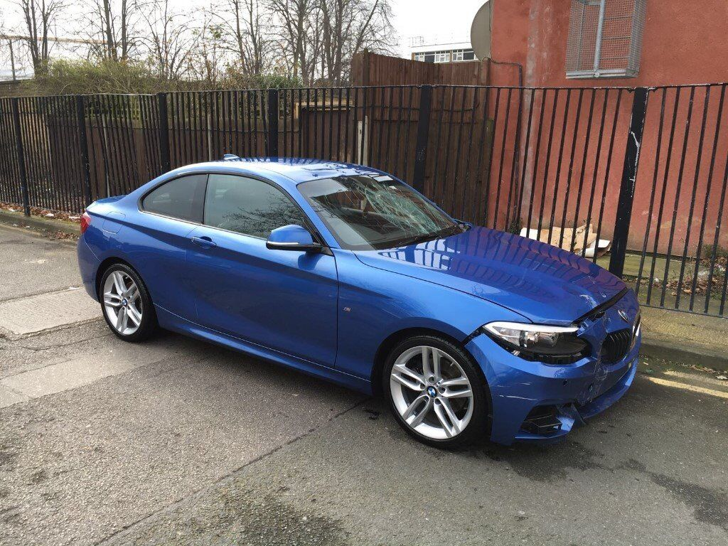 2016 bmw 2 series 220i m sport auto f22 coupe estoril blue damaged salvage repairable in. Black Bedroom Furniture Sets. Home Design Ideas
