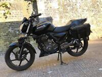 FULLY WORKING 2013 Generic Works 125cc motorcycle 125 cc geared bike with 1 years mot.
