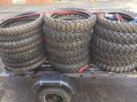 various sizes motocross tires