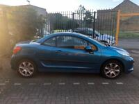 Peugeot 207cc for sale 1.6 litres. Petrol fuel and drives really good
