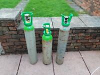 pub type gas bottles, two almost full, third has got gas ammount not known.