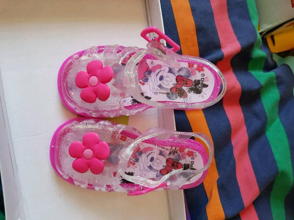 e87d392a4cba UK infant size 5 Minnie Mouse jelly shoes