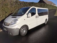 2009 Vauxhall Vivaro Combi 9 seater LWB privately owned £4900 (no VAT). Drives exceptionally well