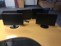 4 computer monitors for sale
