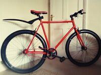 Red Single Speed Bike No Logo