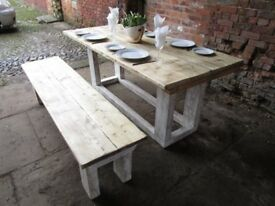 RECLAIMED WOOD DINING TABLE, KITCHEN TABLE, CUSTOM MADE, SHABBY CHIC, FARM HOUSE, VINTAGE, RUSTIC,