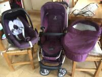 icandy travel system and Maxi-cosi car seat Mulberry