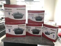 Cookware non-stick die-casting set of 5 brand new in box