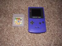 NINTENDO GAMEBOY COLOUR WITH MARIO GAME