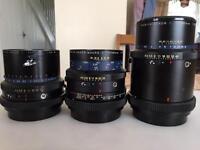 3 Mamiya Sekor camera lens
