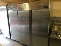 CATERING COMMERCIAL DOUBLE DOOR FRIDGE EQUIPMENT CAFE SHOP COMMERCIAL CATERING CHICKEN PIZZA BBQ