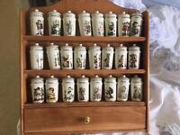 Hummel spice jars complete set