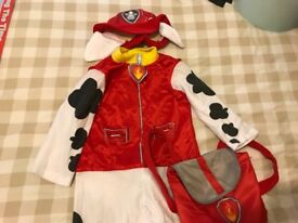 Paw Patrol outfit with matching hat and bag - Marshall