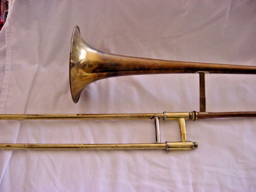ANTIQUE F E OLDS AND SONS  AMBASSADOR TROMBONE LOS ANGELES CALF 1947