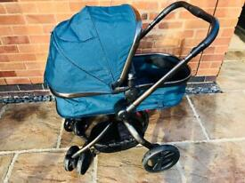 Mothercare Orb Pram / Pushchair teal colour