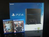 SONY PLAYSTATION 4 console 500GB Edition Jet Black, 1 Controller & 2 Games