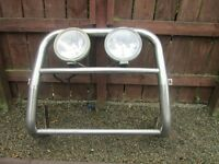 chrome abar with spotlights for ford transit