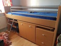 Dreams Cabin Bed with desk and chair rrp £499