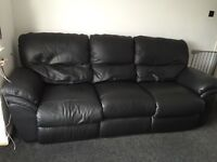 3 seat Italian leather recliner sofa from CSL (Sofology) £200