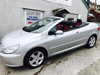 PEUGEOT 307 CC COUPE CONVERTIBLE LEATHER £1695!!