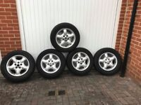 SET OF 5 ALLOY WHEELS WITH TYRES LAND ROVER FREELANDER 5X114,3 16 INCH ET46