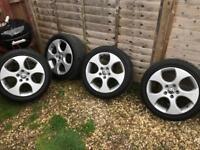 "Genuine 17"" Gti Alloys & Tyres"