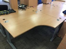 Beech Office Desks (8 available)