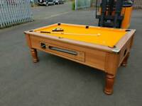 Slate Bed Pool Table free play or coin operated
