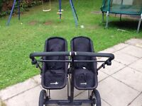 First wheels double pram with carrycot