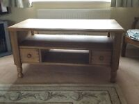 Pine Coffee Table with to long drawers, reduced to only £75