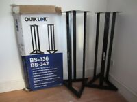 Quik-Lok BS-342 Fixed Height Near-field Monitor Stands 106.6cm