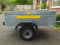 Small car Trailer, galvanised steel.