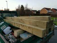 10ft long 6inch x 6inch timber posts