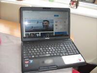Toshiba C660 Laptop running windows 10 in perfect working order BARGAIN £65.00