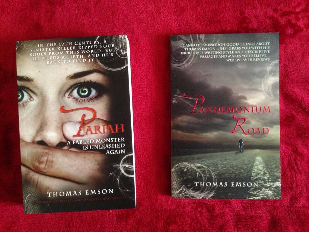 2x Thomas Emson (horror) books
