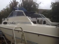 Fast fisher boat 70hp Johnson /4hp Mercury aux on road trailer