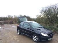 Peugeot 206 black - Long MOT - Remote locking