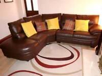 4 Seat Leather Corner Sofa