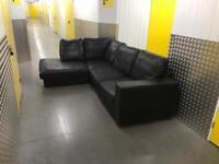 Black L shape sofa, Free delivery