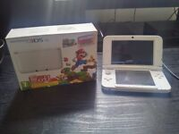 White Nintendo 3DS XL w/ Gateway Blue & Red Cart (w/ X games)