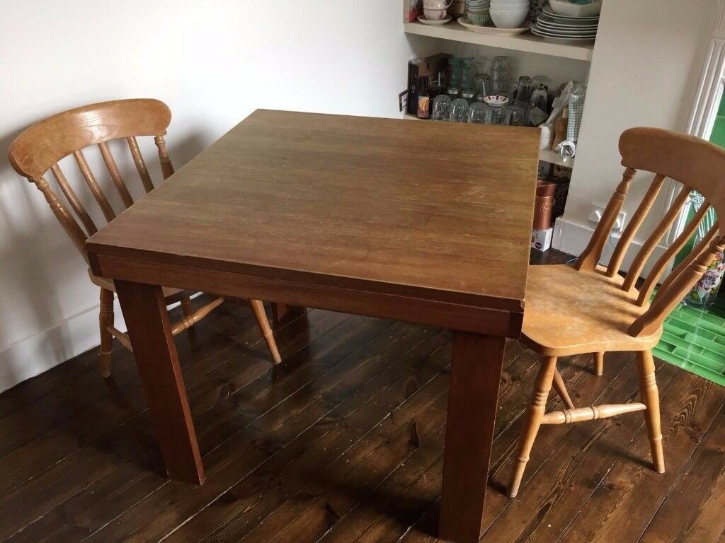FOR SALE Solid Wood Square Dining Table