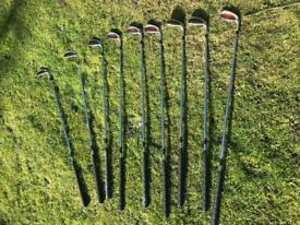 Set of Taylor Made Burner oversize golf irons