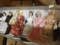 Hickleton Interiors Porcelain Dolls