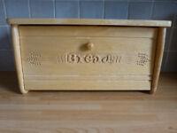Heritage drop front wooden bread bin