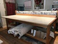 Very large worktable suitable for carpenters, printers, sewing