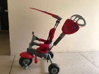 TODDLER RED TRIKE WITH REMOVABLE PARENTAL HANDLE - GOOD CONDITION!!