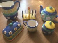 Teapot breakfast set milk jug toast and butter holder